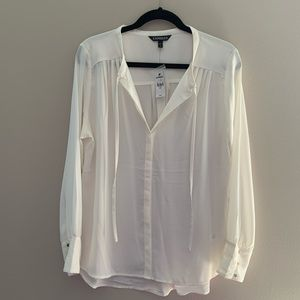 NWT EXPRESS tie neck blouse